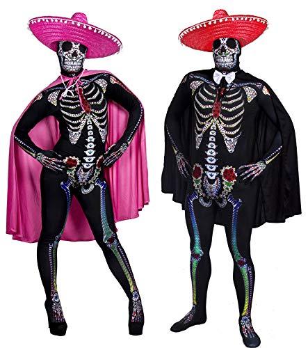 Sugar Skull Kostüm Für Paare - ILOVEFANCYDRESS Tag DER Toten =Paare Sugar
