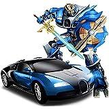 Once More Kids Plastic Multi Robot Mini Car (Blue)