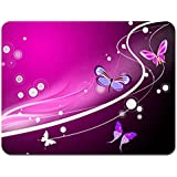 Meffort Inc Standard 7 X 9 Inch Mouse Pad - Pink Butterfly Design