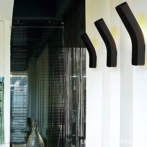 Nordic Wandleuchte Innentreppe Beleuchtung 2pcs / lot LED Lampe Spiegel Bad Eisen Wand Kunst Raumdekoration, schwarz (Für Schwarz-wand-kunst Bad Das)