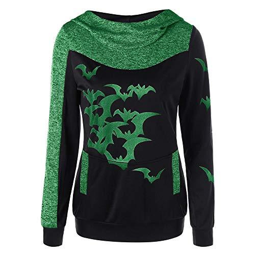 Damen Halloween Print Kapuzen Langarm Sweatshirt,Beikoard Damen Kapuzenoberteile Pullover