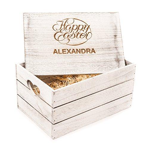alisierbar Antik Holz Geschenkbox Box Happy Ostern Geschenk Love ()
