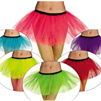 PINK ROSA NEON Tutu Tütü Ballet Rock Damen neonfarben Karneval Fasching  Verkleidung Party 80er Jahre Style aef134ae9e