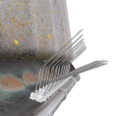 1-meter-2pcs-gutter-protection-bird-spike-four-fixing-clips