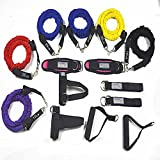 YNXing YNXing 15 Resistance B&s Set Exercise Workout B&s Kit Different Tension Levels 6 Tubes Set With H&les H& BuckleDoor Anchor Ankle Straps & Carry Bag Ideal For Home /Travel Fitness/Strengt