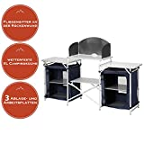 Multifunktionale Campingküche, große Reiseküche, leicht faltbar + stabile Stoffküche, ideal für Ihr Vorzelt