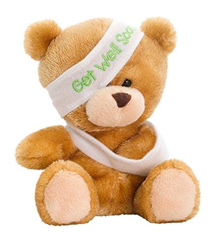 """Keel Toys SB0306 14 cm, motivo: """""""" Get Well Soon Pipp Bear """"in peluche"""