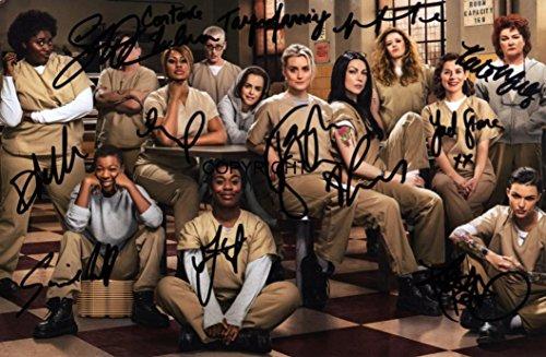 ge ist das neue Schwarz Cast Signiert Foto Autogramm signiertsigniertes (Chapman Orange Ist Das Neue Schwarz)