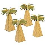 50pcs Cajas Papel Cartón Forma Palmera de Caramelos Bombones Dulces Galletas Regalos Recuerdos Detalles para Invitados de Boda Fiesta Bautizo Cumpleaños Verano Decoración Hawaiana