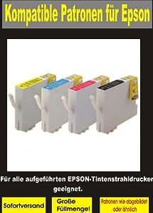Cartouches compatibles Epson. Cette à 100% qualité compatibles cartouches d'encre Attitudes dans les imprimantes suivantes: Epson Stylus D68/STYLUS D68Photo Edition/STYLUS D68PE/STYLUS D88/STYLUS D88Photo Edition/STYLUS D88PE/STYLUS DX3800/STYLUS DX3850/STYLUS DX4200/STYLUS DX4800/STYLUS DX4850 20 Patronen 8x bk 4x cy,ma,ye