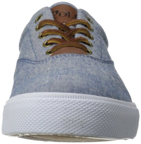 Ralph Lauren Vaughn SK VLC Natural Mens Trainers Blue/Red