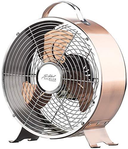 Sichler Haushaltsgeräte Retro Tischventilator: Tisch-Ventilator aus Vollmetall im Retro-Design, 20 Watt (Retro Ventilator Metall)