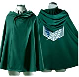 Attack on Titan Shingeki no Kyojin Rivaille Cosplay Costume Cloak (M 64CM)