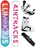 AIRTRACKS SNOWBOARD SET - BOARD LUMINOUS LADY 150 - SOFTBINDUNG SAVAGE W - SOFTBOOTS STRONG 38 - SB BAG