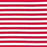 Fabulous Fabrics French Terry Streifen 2 rot/weiß —