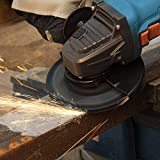 Amoladora Angular Profesional, Tilswall 860W 12000 RPM 125mm, Amoladora Angular con 3 Ruedas de Corte y 2 Esmerilado, Cubierta Protectora para Esmerilado/Pulido/Corte