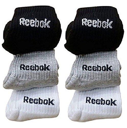 Reebok Unisex Solid Combo Of 6 Ankle Socks (Multicolor,Medium)