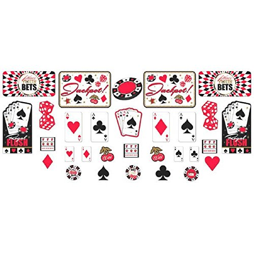 NEU Deko-Set Poker Spiel Cutouts, 30 tlg.
