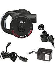 Intex Luftpumpe Quick Fill Pump mit Akku, inkl. Ladekabel, schwarz, 230V/12V