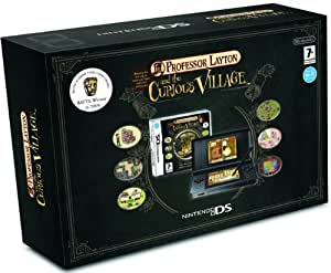 Nintendo DS Lite Black Console with Professor Layton and the Curious Village (Nintendo DS) [import anglais]