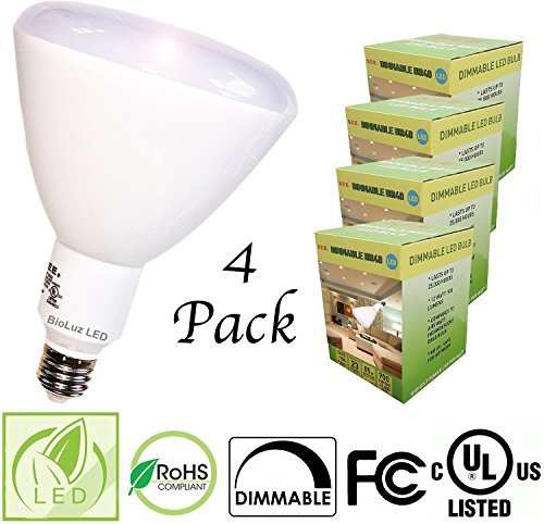 bioluz LED siehe Serie BR40glatt 12W = 85W entspricht 2700K 900lumen dimmbar Lampe, Warm White (2700K), E26, 12.00 wattsW 120.00 voltsV (Led-lampen Br40)
