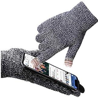 Aotlet Calientes Guantes invierno hombre guantes impermeables para moto mujer running guantes deportivos Prueba del Viento cuero navidad regalos para hombres Guantes ciclismo de pantalla tactil