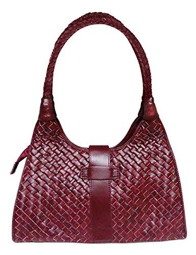 Borse Borsa a Tracolla Donna Messenger Vintage Pelle Spalla Tote Piccolo Clutch Nero Red