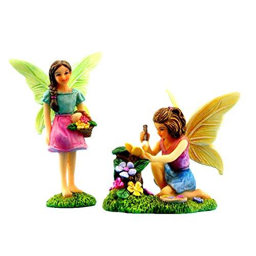 Pretmanns Jardín de hadas miniatura hadas–colorido jardín de hadas Kit de accesorios–Figuras–-supplies