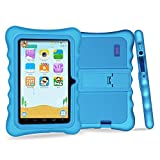 Yuntab 7 Pollici Tablet PC load kid software Iwawa Google Android 4.4 KitKat Wifi kid tablet, flash di 8GB NAND doppia fotocamera HD 1024x600 display Touch Screen Capacitivo Allwinner A33 quad core 1.5GHz 512MB DDR3 External 3G, Supporta Play Store Google Youtube, Netflix, Games with stand tablet case (Blu)