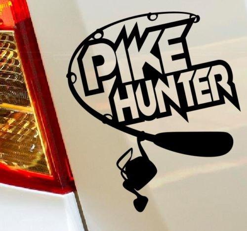 Pike Hunter Pesca Caccia Hobby, camion, auto drift Bumper finestra decalcomania da parete in vinile van Laptop Love Cuore Decor Casa Live Bambini divertenti adesivi Moto