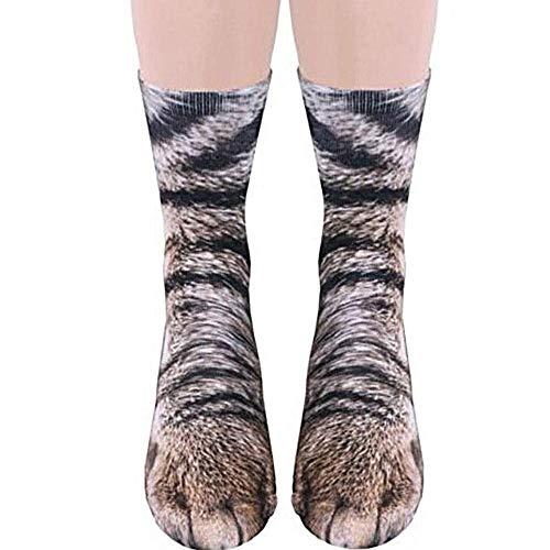 AOLVO Pfote Socks Animal 3D Kleinkind Stance Socks–Weichsten Socken Neuheit Kompression Socken Schwarze Katze