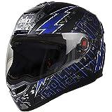 Steelbird SBA-1 Free Live Matt Black with Blue with Plain visor,600mm