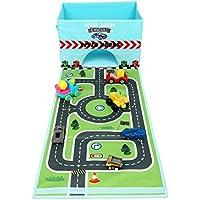 Preisvergleich für livememory faltbar Spielzeug Stoff Spielzeug Aufbewahrungsbox Organizer mit Fun Play Matte für Kinder (Cars nicht im Lieferumfang enthalten)