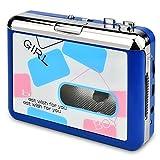 DIGITNOW! Portatile registratore a cassetta & Audio Cassetta Nastro, Walkman e Convertitore di Audiocassette in File Digitali MP3 via USB,Compatibile Mac e Windows(blu)