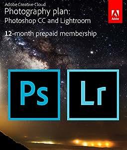 Adobe Creative Cloud Photography plan (Photoshop CC + Lightroom) [Prepaid Card]