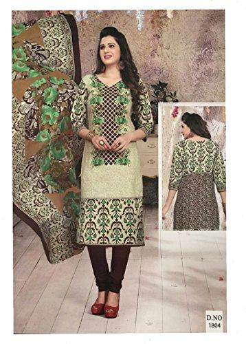 Mishri Collection Salwar Kameez Dupatta Indian Dress Material in Kiwi Green &...
