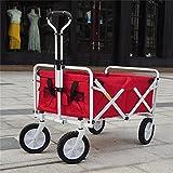 Multi-function trolley Einfache Reine Farben-Einkaufskleinwarenkorb/tägliche Reise-Kind-Laufkatze/Behandlung Gepäckwagen/justierbares Zug-Rod-Auto/Last 68 Kilogramm (Farbe : Red)