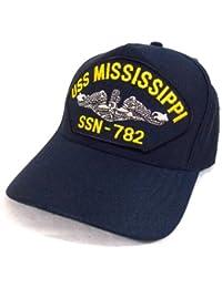 Casquette de pont Marine Militaire Americaine Sous-Marin Americain USS Mississippi SSN-782