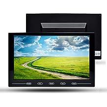 Monitor Toguard de 9 pulgadas ultra-plano HD 800*480 tecnología TFT, HD color, montaje en coche, botones táctiles con entradas de vídeo AV/HDMI/VGA, mando a distancia, altavoz incorporado