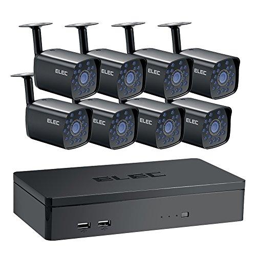 ELEC 8CH HDMI 960H DVR 1500TVL Outdoor Indoor Tag Nacht IR-CUT CCTV ¨¹berwachung Home Video Sicherheit Kamera System - NO Festplatte (Outdoor Nacht Kamera Sicherheit)