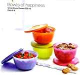 #2: Tupperware Small Round Savers 500ml Set Of 4 (Multicolor)