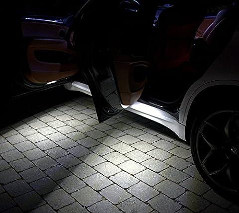 4x Türausstiegsbeleuchtung SMD LED Xenon Weiß Can Fehlerfrei passend für Dacia Logan MCV