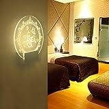 sunnymi 5W LED Wandleuchte, Acryl Wandlampe Für Wohnzimmer Schlafzimmer Korridor, Energiesparendes, Warmes Weiß,Babyzimmer Kinderzimmer Dekorationen Geschenke (190*210*80mm, Warmes Weiß)