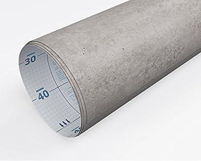 Artesive ST-012 Rohbeton 30 cm x 5 mt. - Haftklebefolie Selbstklebend Vinyl-Beton Effekt Innen für Haus Dekoration, Türen und renovieren von Artesive bei TapetenShop