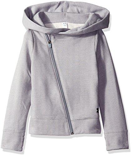 Under Armour Girls' Sweaterknit Full Zip Hoodie, Steel/Black, Youth X-Large