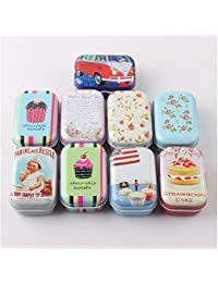 Shopystore Lovely Flower Iron Tin Storage Bag Gift Mini Jewelry Box Decor Card Pill Case 52042