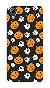 HTC Desire 628 Black Hard Printed Case Cover by Hachi - Halloween Ghost Design