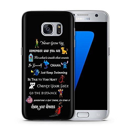 Disney Zitat Telefon Hülle/Case für Samsung Galaxy S8 (G950) mit Displayschutzfolie / Silikon Weiches Gel/TPU / iCHOOSE / (Galaxy Disney)