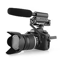 Caractéristique:  1. Occasion pratiques: la photographie, interviews et autres occasions ramassage.  2. Caractéristiques du produit: Spécialement conçu pour la caméra et haute sensibilité microphone à condensateur à améliorer la qualité de l'enregist...