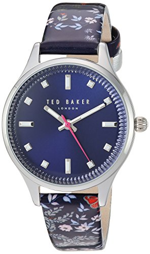 Ted Baker Women's 'ZOE' Quartz Stainless Steel and Leather Casual WatchMulti Color (Model: TE50001001)